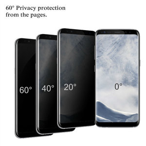 DMAX Factory Price Anti-spy Tempered Glass 3D Full Coverage Privacy Film For Samsung Galaxy S8