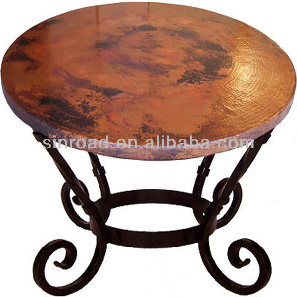 Hammered Round Copper Coffee Table