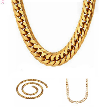 Men Stainless Steel Choker Gold Necklaces Designs ChainDifferent