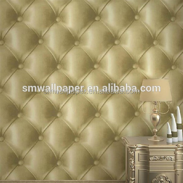 Wholesale Leaf Wall Paper Design Home Decor 3d Wallpapers Silver ...