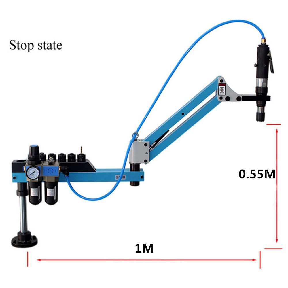 M3-M12 Universal Type Pneumatic Air Tapping Tool Machine-working Taps Threading Machine Tapping Capacity Pneumatic Tapper Tool Working radius: 1M