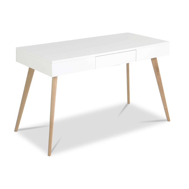 White Mdf Lacquer Kids Writing Desk