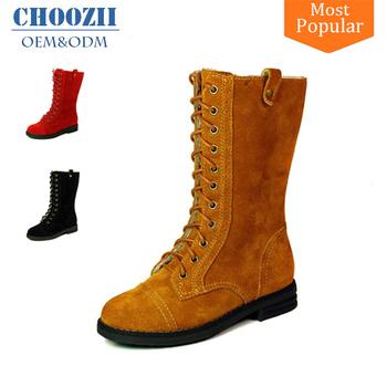 Choozii mujeres de invierno de la moda de cuero botas con cordones para  chicas 8ebb0645f59de