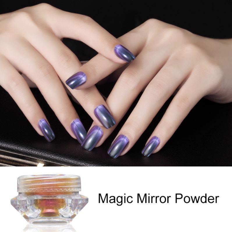 Nails Art Polarized Chrome Metallic Mirror Pigment Powder - Buy Nail ...