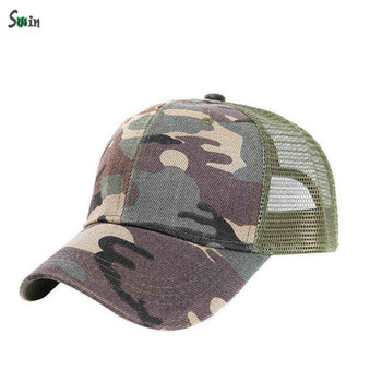 Cotton front low profile custom 6 panel mesh plain trucker camo ponytail  hats 9b45e17f0b82