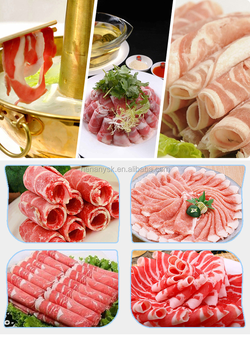 Fully Automatic Electric Mutton Cutter Frozen Meat Slicer Machine For Home and Commercial use