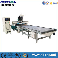 HT-1325-2 -9Double Pneumatic Spindle with Boring Unit CNC Router with uploading and downloading system