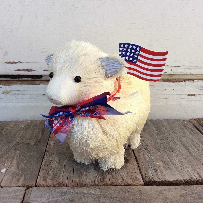 Get Quotations Agd Patriotic Decor Adorable Sisal Sheep Lamb