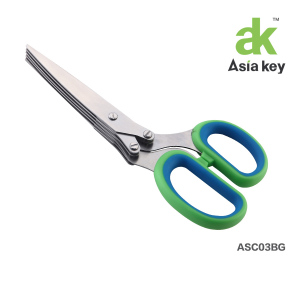 5-blade Herb Scissors, Green - Gourmet Chef Cutlery Shears