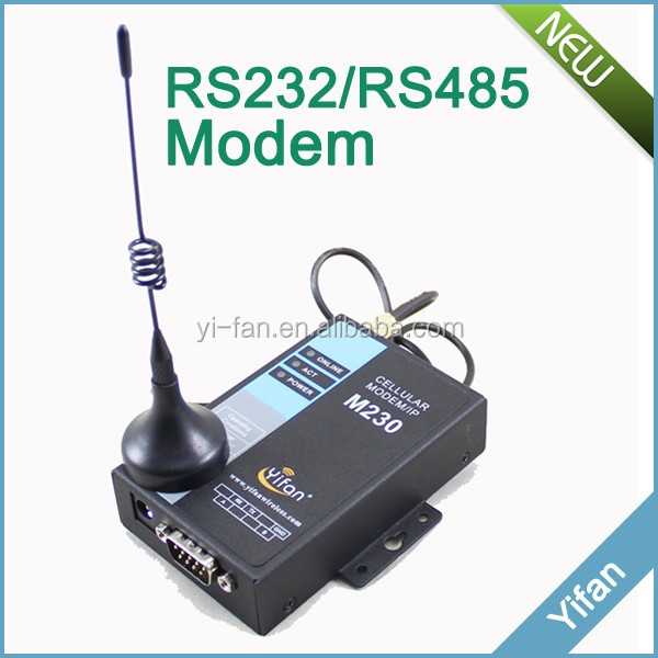 support transparent data transfer rs232 rs485 industrial gsm gprs <strong>modem</strong> for AMR PLC