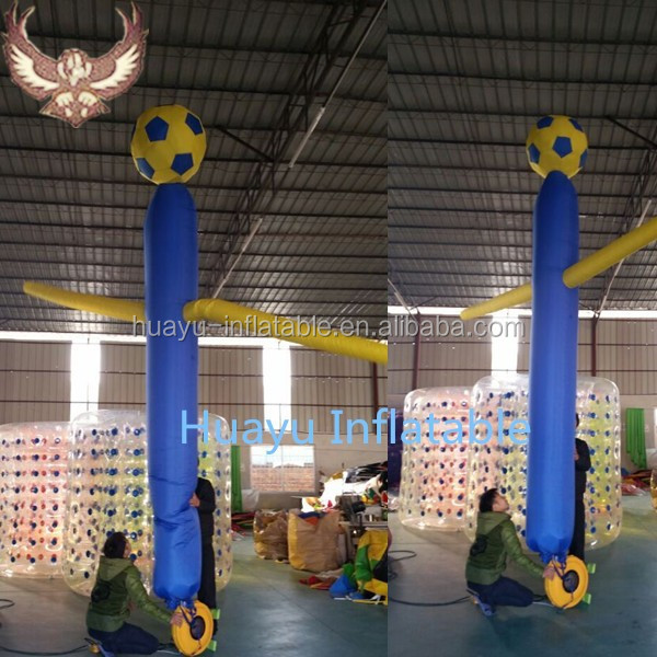 mini inflatable sky air dancer dancing man hot air balloon fabric