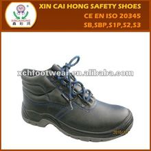 Hot selling steel toe leather safety footwear