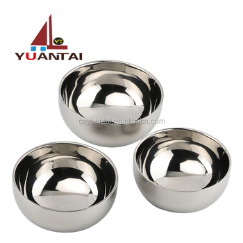 Wholesale indian double wall stainless steel kids soup bowl cheap stainless steel bowl for restaurant and home
