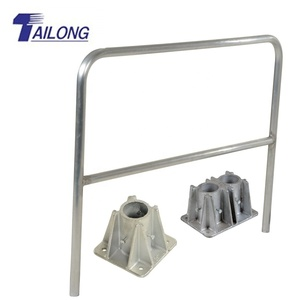 Modular Galvanized Steel Handrai/Safety Road Barrier/Steel Pipe Railing Design