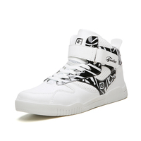 Men's High Top Fashion Skateboard Shoes Street Hip Hop Leather Sneakers