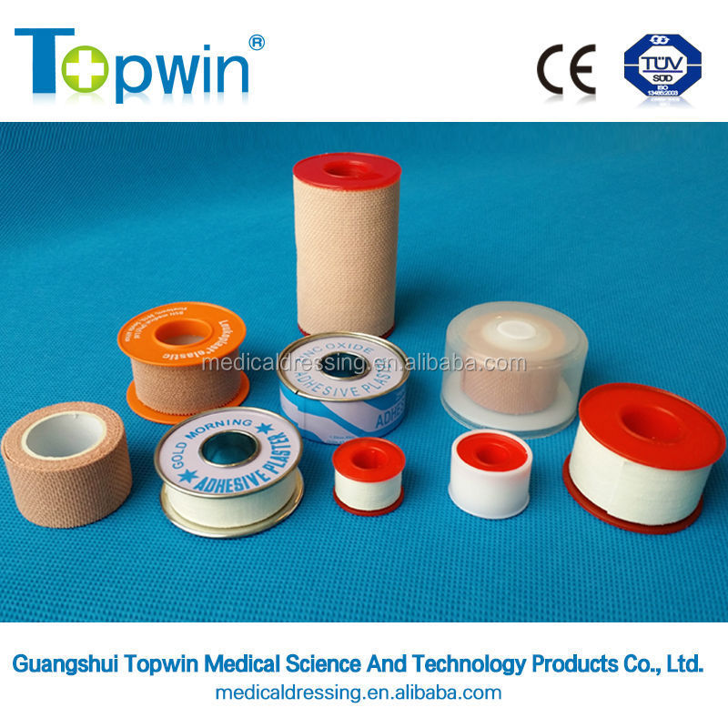 Surgical tape 100% medical adhesive plaster Cotton Zinc Oxide Plaster with Hypoallergenic Glue and CE, ISO FDA approved