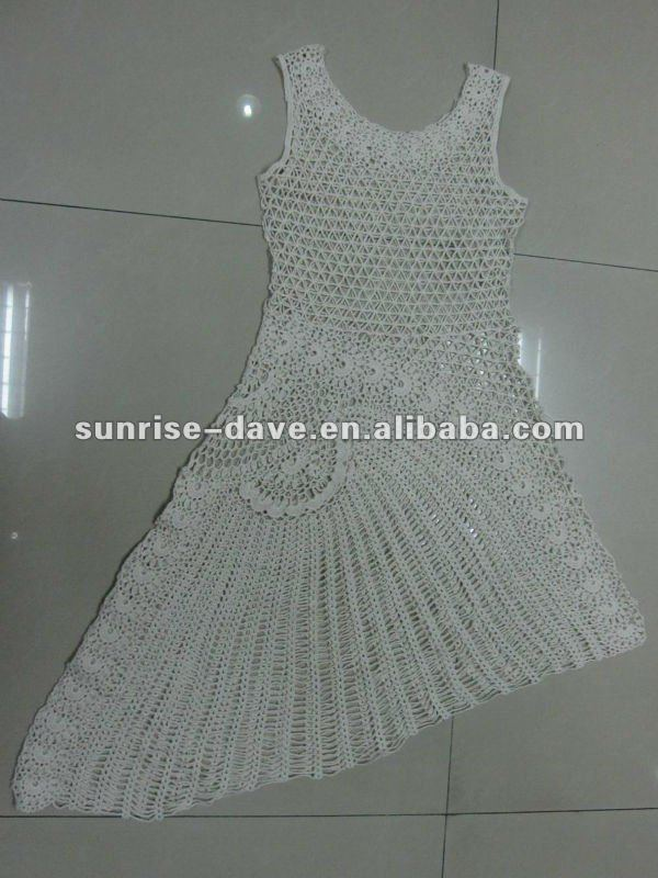 Atractivo Crochet Patrón De Vestido De Noche Molde - Manta de Tejer ...