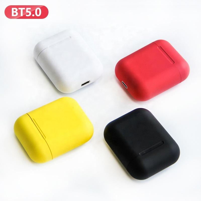 Colorful i9s tws BT 5.0 true stereo headphones Mini In Ear Blue Tooth wireless earbuds earphone Headset, White