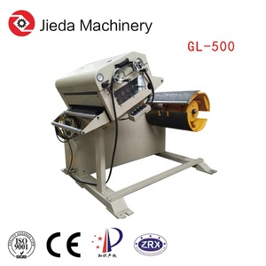 Metal sheet electric rolling decoiler and mandrel uncoiler machine