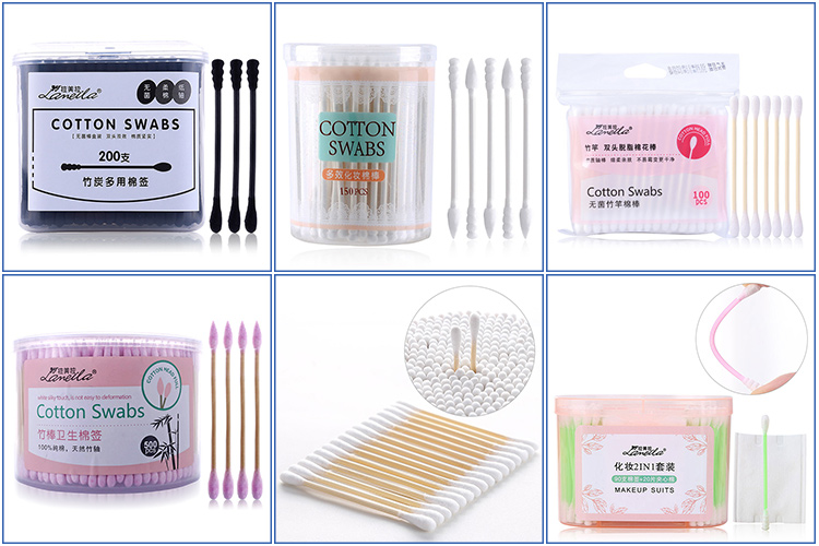 Manufacturer Double pointed paper stick colorful cotton bud swab