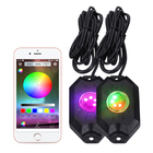 Rock Light Led Bluetooth Color Changeable RGBW Rock Light IP68 Wireless Control Led RGB Rechargeable Rock Light