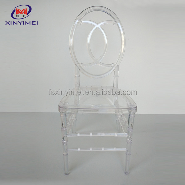 Lastest design modern round back transparent phoenix chair