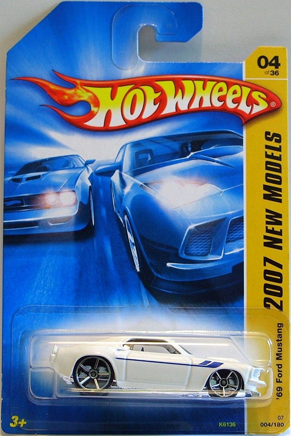 1969 ford mustang hot wheels 2007 new models series white classic sport coupe 69 ford