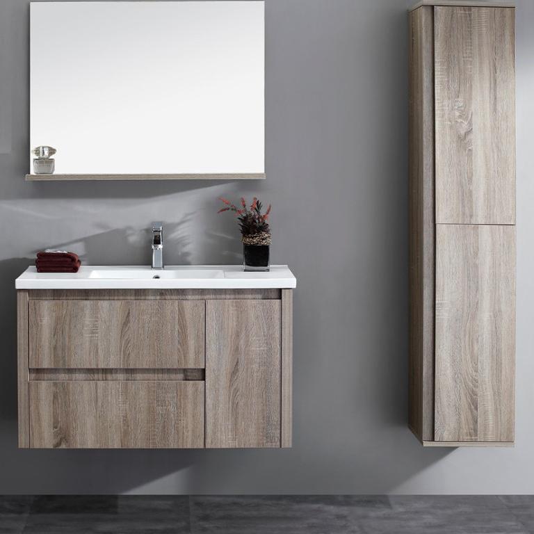 estilo moderno de gran pared del bao espejo gabinete