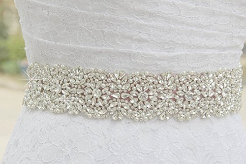 ShiDianYi Wedding Sash Ivory ~Wedding Belt,bridal Belt,bridesmaid Belt,wedding Sash,bridal Sash,belt,rhinestone Sash,ribbon Sash,bridal Crystal Sash,sparkly Wedding Sash ~M99