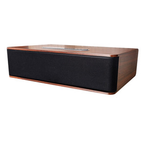 Full range loudspeaker 3 inch subwoofer 30W wooden bluetooth speaker with Bluetooth, USB, AUX, fiber, coaxial