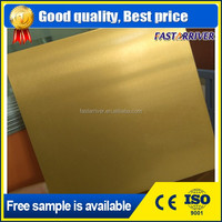 Satin Gold Dye Sublimation Aluminium Metal Sheet
