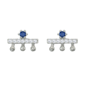 Gemstone 925 Sterling Silver Earrings Aretes Fashion Jewelry