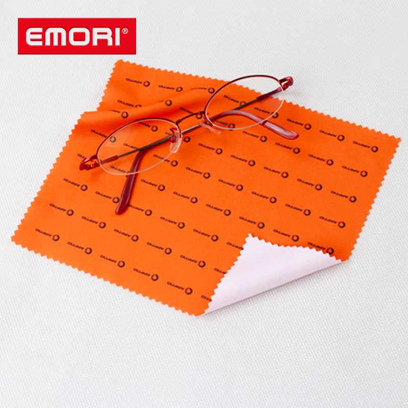 Low cost eco-friendly reusable microfiber eyeglasses cleaning cloth