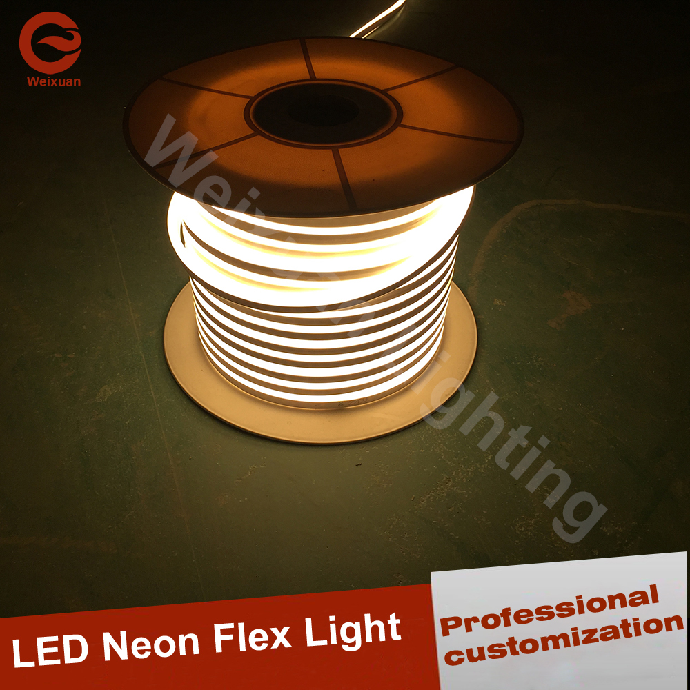 Widely usud for Indoor lawn garden home party decoration LED neon rope light 100m Warm white