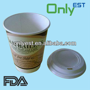 Disposable large size double wall biodegradable paper cups for coffee