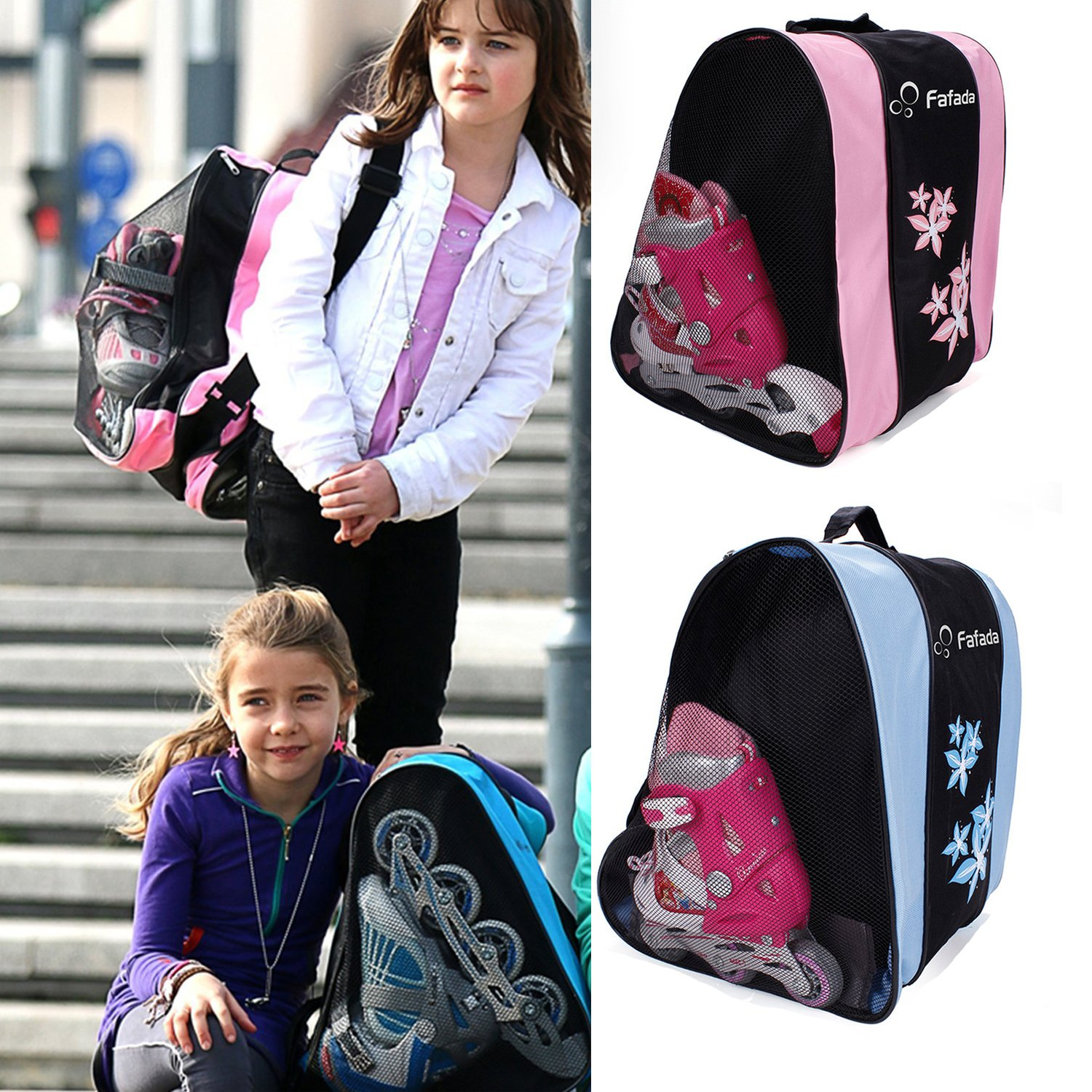 Fafada Ice Skating Bag Inline Skate Bag, skate bag,Roller Skates Bag, ice skate bag,Sports Deluxe Skate Bag Ultima Bag for Ice Skating Bag for Ice Skating for Both Kids and Adults