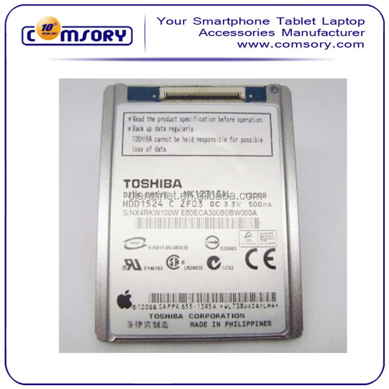 1.8 Inch for Toshiba MK1231GAL 120GB for Apple Ipod Video Classic ZIF/PATA Disk Drive HDD