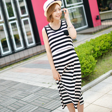 2016 New Summer striped Breastfeeding Ourdoor baby nursing Dress Simple Casual For Pregnant Women Manternity Cloth