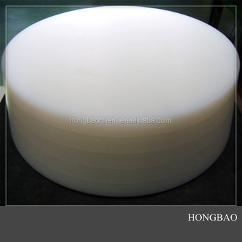 Thick Round Cutting Board Wear Resistant Plastic Uhmw Pe