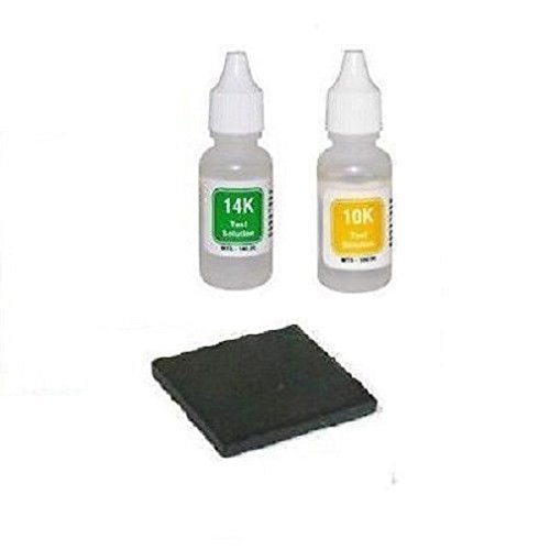 Gold Test Acid Tester Kit 10k 14k & Testing Stone