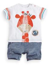 2016 summer new baby clothing romper baby boy girl bear deer cartoon casual short sleeved jumpsuit