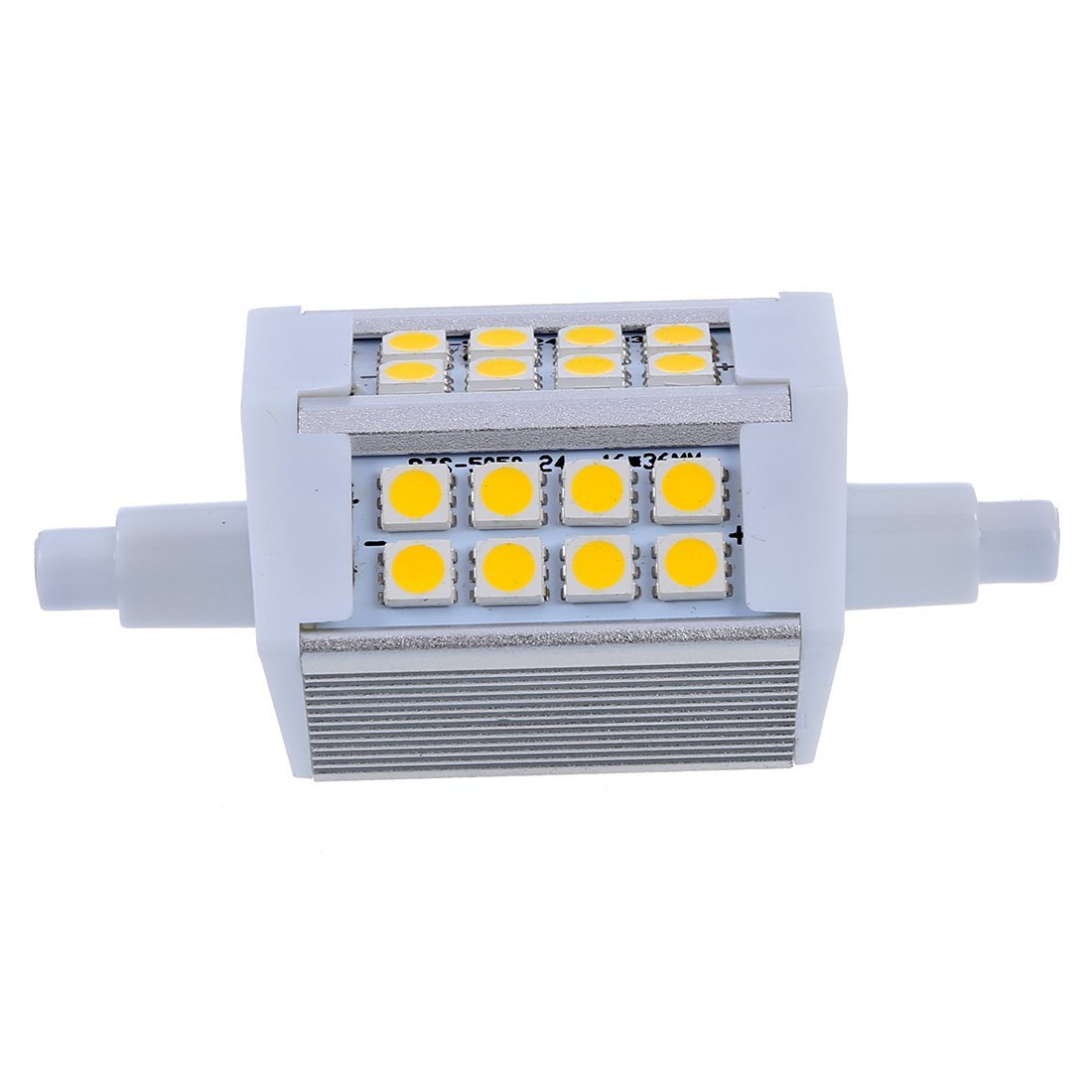 TOOGOO(R) R7S J118 5W 24 5050 SMD LED 78mm Flood Light Lamp Bulb 85-265V Warm