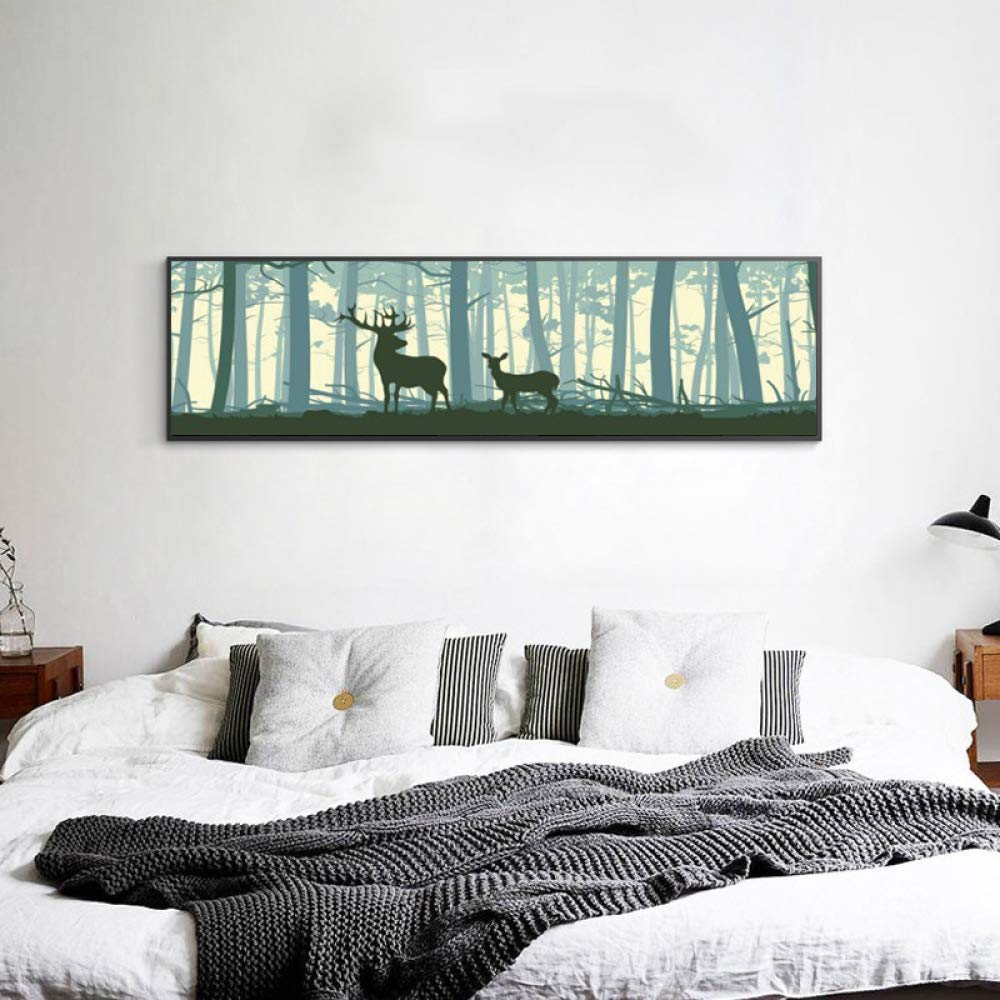 STTS Modern minimalist decorative painting, European mural, consignment Nordic painting, living room decorative painting, bedroom bedside painting