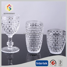 Knit design wine glass