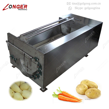 Automatic Fruit Date Brush Washing Equipment Yam Cleaning Machine Commercial Potato Peeler Machine Price Buy Commercial Potato Peeler