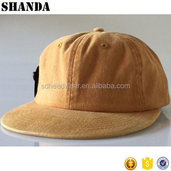1517c400ccf Dyed Mustard Unstructured Hat Strapback Cap 6 Panel Flat Bill Low Profile  Dad Hat