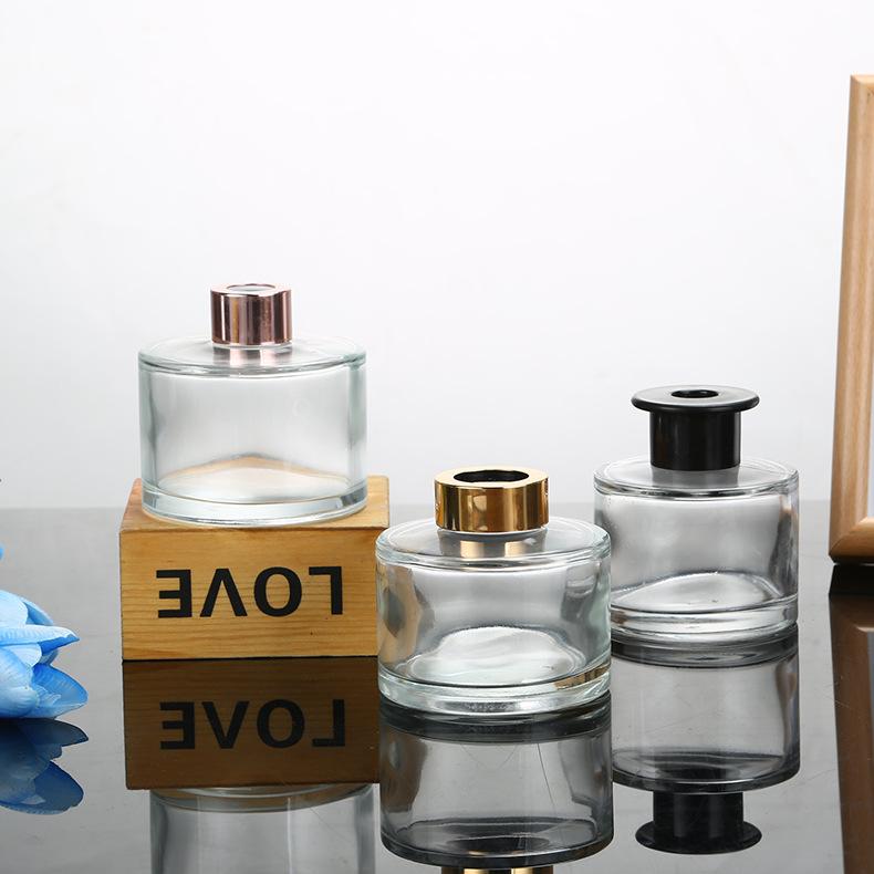 50 ml 100 ml 150 ml 200 ml cilindro rodada reed difusor garrafa de vidro vazio com tampa de rosca