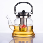Glass,Borosilicate glass Material and Coffee & Tea Sets Drinkware Type Glass Teapot