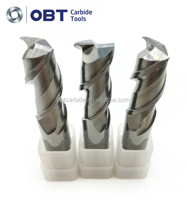 roughing 4 flutes hrc55 carbide metal lathe cutting tools TiALN Coating