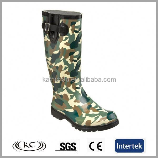 wholesale women hunting camo green rubber boots